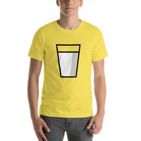 Emoji T-Shirt Store | Glass Of Milk emoji t-shirt in Yellow