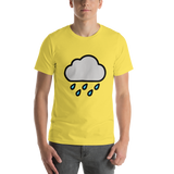 Emoji T-Shirt Store | Cloud With Rain emoji t-shirt in Yellow