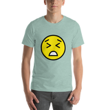 Emoji T-Shirt Store | Persevering Face emoji t-shirt in Green