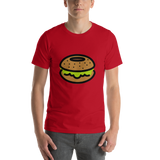 Emoji T-Shirt Store | Bagel emoji t-shirt in Red