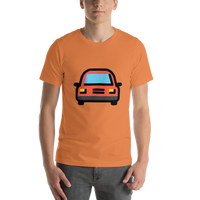 Emoji T-Shirt Store | Oncoming Automobile emoji t-shirt in Orange