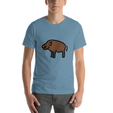 Emoji T-Shirt Store | Boar emoji t-shirt in Blue