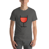 Emoji T-Shirt Store | Wine Glass emoji t-shirt in Dark gray