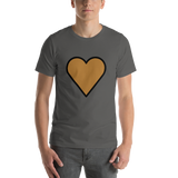 Emoji T-Shirt Store | Brown Heart emoji t-shirt in Dark gray