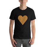 Emoji T-Shirt Store | Brown Heart emoji t-shirt in Black