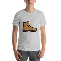 Emoji T-Shirt Store | Hiking Boot emoji t-shirt in Light gray