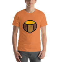 Emoji T-Shirt Store | Chestnut emoji t-shirt in Orange