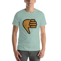 Emoji T-Shirt Store | Thumbs Down, Medium Dark Skin Tone emoji t-shirt in Green