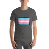 Emoji T-Shirt Store | Transgender Flag emoji t-shirt in Dark gray