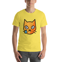 Emoji T-Shirt Store | Crying Cat emoji t-shirt in Yellow