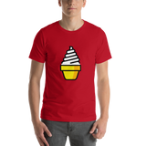 Emoji T-Shirt Store | Soft Ice Cream emoji t-shirt in Red