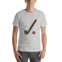 Emoji T-Shirt Store | Field Hockey emoji t-shirt in Light gray