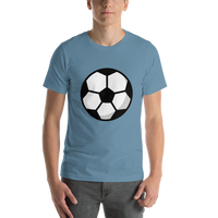 Emoji T-Shirt Store | Soccer Ball emoji t-shirt in Blue