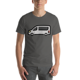 Emoji T-Shirt Store | Minibus emoji t-shirt in Dark gray