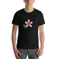 Emoji T-Shirt Store | Cherry Blossom emoji t-shirt in Black