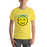 Emoji T-Shirt Store | Smiling Face With Halo emoji t-shirt in Yellow