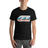 Emoji T-Shirt Store | Light Rail emoji t-shirt in Black