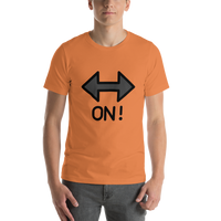 Emoji T-Shirt Store | On! Arrow emoji t-shirt in Orange