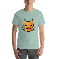 Emoji T-Shirt Store | Cat With Tears Of Joy emoji t-shirt in Green