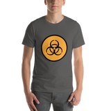 Emoji T-Shirt Store | Biohazard emoji t-shirt in Dark gray
