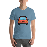 Emoji T-Shirt Store | Oncoming Automobile emoji t-shirt in Blue