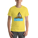 Emoji T-Shirt Store | Sailboat emoji t-shirt in Yellow