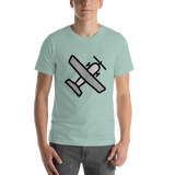 Emoji T-Shirt Store | Small Airplane emoji t-shirt in Green
