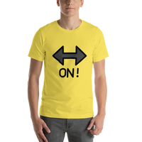 Emoji T-Shirt Store | On! Arrow emoji t-shirt in Yellow