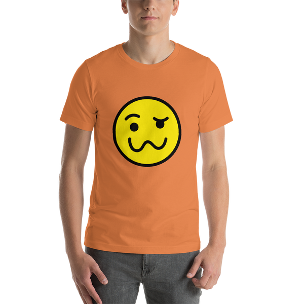 Emoji T-Shirt Store | Woozy Face emoji t-shirt in Orange