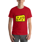 Emoji T-Shirt Store | Cheese Wedge emoji t-shirt in Red