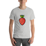 Emoji T-Shirt Store | Strawberry emoji t-shirt in Light gray
