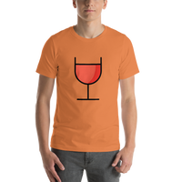 Emoji T-Shirt Store | Wine Glass emoji t-shirt in Orange