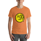 Emoji T-Shirt Store | Face With Monocle emoji t-shirt in Orange