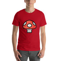 Emoji T-Shirt Store | Mushroom emoji t-shirt in Red