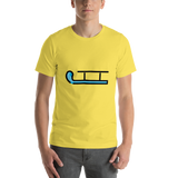 Emoji T-Shirt Store | Sled emoji t-shirt in Yellow