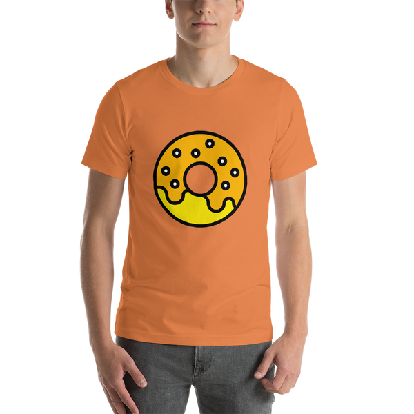 Emoji T-Shirt Store | Doughnut emoji t-shirt in Orange
