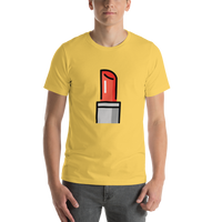 Emoji T-Shirt Store | Lipstick emoji t-shirt in Yellow