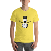 Emoji T-Shirt Store | Snowman Without Snow emoji t-shirt in Yellow