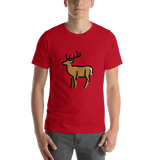 Emoji T-Shirt Store | Deer emoji t-shirt in Red