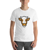 Emoji T-Shirt Store | Cow Face emoji t-shirt in White