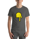 Emoji T-Shirt Store | Backhand Index Pointing Down emoji t-shirt in Dark gray