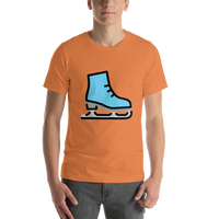 Emoji T-Shirt Store | Ice Skate emoji t-shirt in Orange