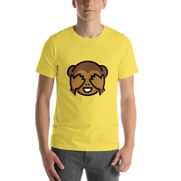 Emoji T-Shirt Store | See-No-Evil Monkey emoji t-shirt in Yellow