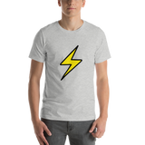 Emoji T-Shirt Store | High Voltage emoji t-shirt in Light gray