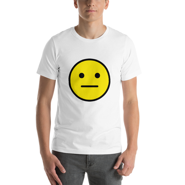 Emoji T-Shirt Store | Neutral Face emoji t-shirt in White