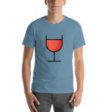 Emoji T-Shirt Store | Wine Glass emoji t-shirt in Blue