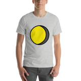 Emoji T-Shirt Store | Waning Gibbous Moon emoji t-shirt in Light gray