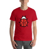 Emoji T-Shirt Store | Lady Beetle emoji t-shirt in Red
