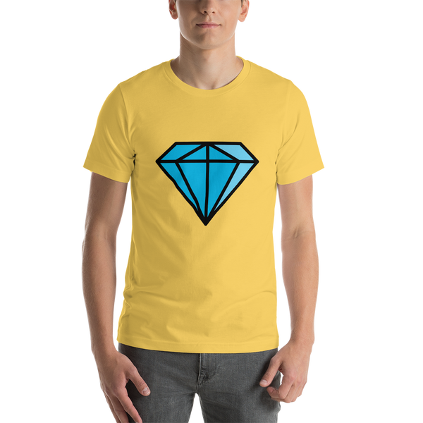Emoji T-Shirt Store | Gem Stone emoji t-shirt in Yellow