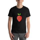 Emoji T-Shirt Store | Strawberry emoji t-shirt in Black